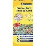 Michelin Map France: Essone, Paris, Seine-et-marne 312