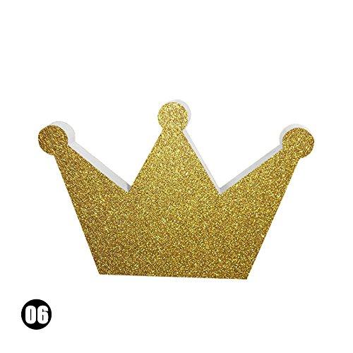 rungao Holz Kleidung Haken Raum Wand Kinder Zimmer Kleiderbügel Haken Crown Gold -