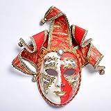 WDERYL Halloween-Maske, Venedig Premium-Diamant-Rot-Gold Yin Yang falsche Gesichtsmaske Abendkleid-Partei Halloween-Maske Maskerade Partei-Schablone -