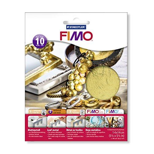 Preisvergleich Produktbild Staedtler 8781-11 - Fimo Blattmetall Gold, 10 Blatt im Kartonkuvert