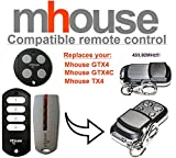 Mhouse GTX4, Mhouse GTX4C, Mhouse TX4 compatible mando a destancia 433,92Mhz rolling code, 4-canales reemplazo transmisor Al mejor precio!!!