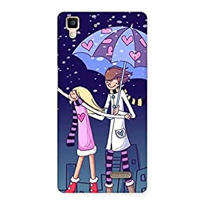 Anime Couple Back Case Cover for Oppo R7