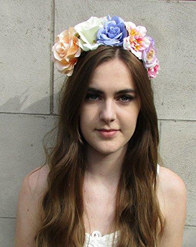 Grand Pêche Lilas Blanc Rose Fleur Bandeau cheveux Couronne Guirlande Festival qualité * * * * * * * * exclusivement vendu par – Beauté * * * * * * * *