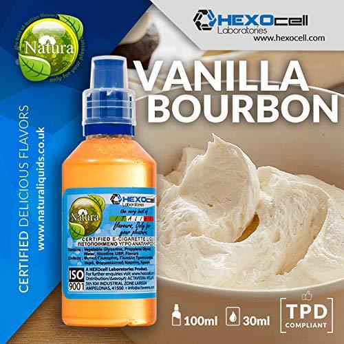 DAMPF SHOP - 30ml Shake and Vape E Liquid ohne Nikotin - Vanilla Bourbon (Cremige und butterartige Vanille) - Shake n Vape Liquid für Ihre E Zigarette (Natur-shop)