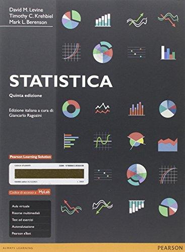 Statistica. Ediz. mylab. Con eText. Con aggiornamento online