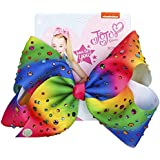 JOJO Siwa Large Rainbow Rhinestone Signature Hair Bow - Party Favor -