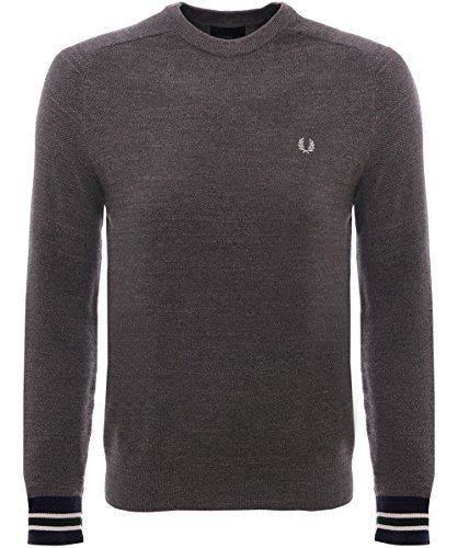 Fred Perry Textured Yarn Pique Crew Neck, Sweatshirt - M
