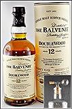 Balvenie Double Wood 12 Jahre Single Malt Whisky & 1 Flaschenportionierer aus Echtglas, kostenloser Versand