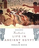 Front cover for the book The Handbook to Life in Ancient Egypt by Rosalie David