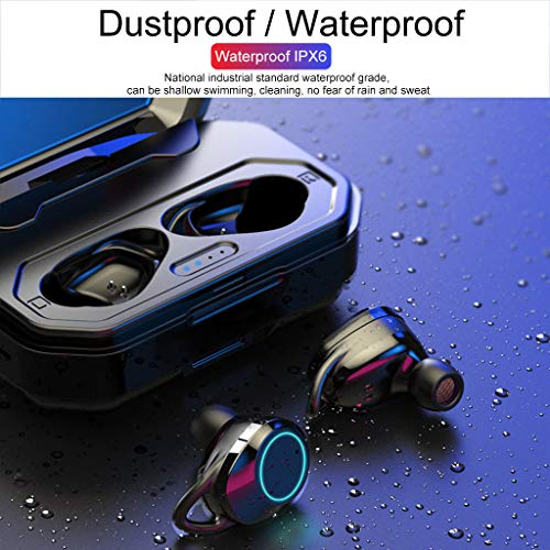 Gaddrt Wireless Bluetooth 5.0 Sports Headset Wasserdichtes und langlebiges Bass-Headset Bluetooth Kopfhörer 85 x 52 x 32mm