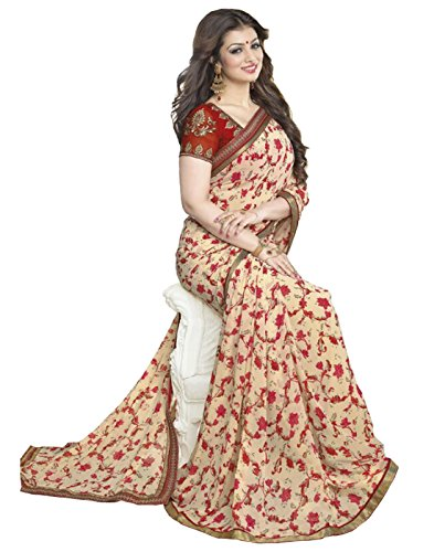 Dhyana Creation Ayesha Takia Georgette Printed Saree For Women