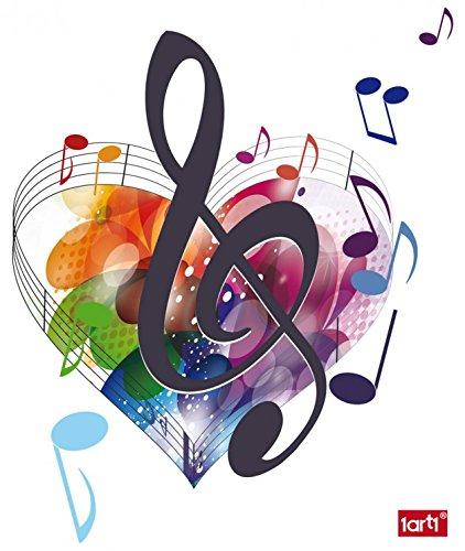 1art1 63668 Musiknoten - Die Farben Der Musik Wand-Tattoo Aufkleber Poster-Sticker 50 x 40 cm Musik-aufkleber Für Wände