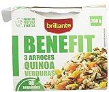 BRILLANTE Benefit tres arroces, quinoa y verduras vaso 200 gr BRILLANTE Benefit tres arroces, quinoa y verduras vaso 200 gr