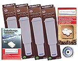 4 x Filterpatronen kompatibel Jura Impressa white + 10 Reinigungstabletten Tabs + Entkalkertabs Pflegeset Jura