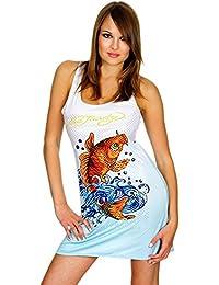 ED HARDY Damen Designer Kleid Monica Tank Dress Koi
