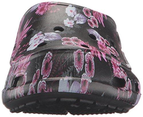 Crocs Freesail Graphic Clog, Sabots Femme Noir (Black/Plum)