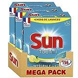 Sun Tablettes Lave-vaisselle Tout En 1 Citron 52 Lavages - Pack de 3