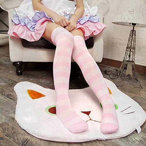 CZYCWJ 1 Paar Neue Frauen Mädchen Über Knie Langen Streifen Gedruckt Oberschenkel Hohe Gestreifte Gemusterte Socken 7 Farben Süße Nette Warme Großhandel Lot