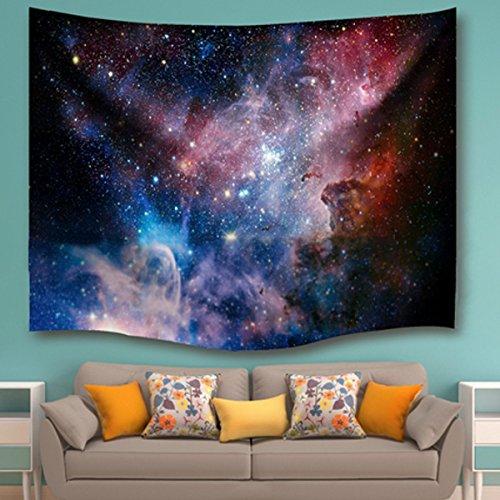 Para colgar en la pared, tezoo Universo Galaxy estrellas cielo tapiz indio Mandala colcha Decor daycloth pared alfombra sofá, manta dormitorio Decor, diseño de playa arte
