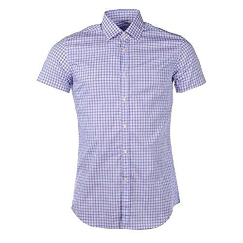 Delsiena-maglietta a maniche corte in cotone purple, blue & white