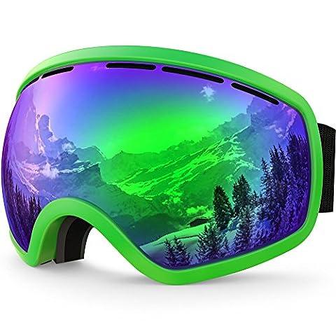 ZIONOR Lagopus X10 Unisex Frame/Frameless Snowboard Ski Goggles with Dual
