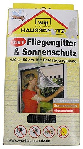 """Fliegengitter,""""Wip"""", schwarz, u. Sonnenschutz, 130x150 cm"""