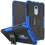 Bracevor XRDN4DKSBU Back Case Cover with Kickstand for Xiaomi Redmi Note 4 (Blue)