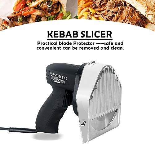 51aQ4W62beL. SS500  - Professional and Commercial Electric Shawarma Cutting, Gyro Cutter,CE Doner Kebab Slicer 240V/50hz UK Plug
