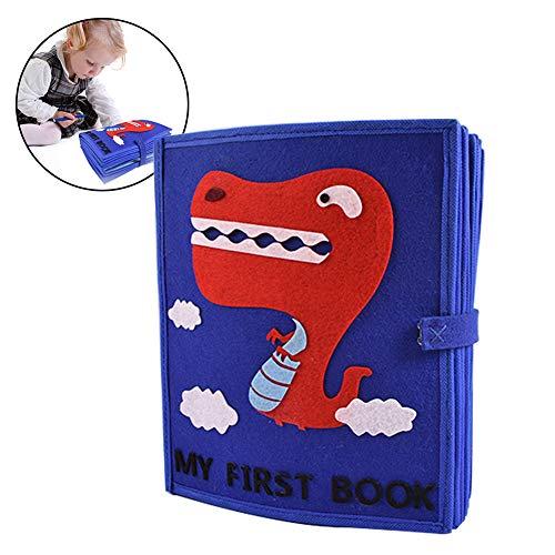 Per Libros Blandos Material Montessori Libros de Bricolaje para Aprender Vestir y Conocer Objetos para Bebés de 1-3 Años