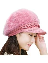 FAMILIZO Las mujeres del invierno casquillo caliente hizo punto el sombrero de la boina Baggy Beanie Hat Cap de esquí Slouch