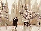 Artland Kunstdruck I Poster Julia Purinton EIN Abend in der Natur Menschen Paar Malerei Creme B2NF