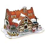 Feliz Navidad 3D Puzzle Set entretenimiento 4 piezas un paquete (Cubierta naranja (2) con LED interior)