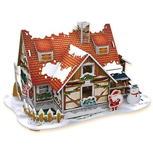 Feliz Navidad 3D Puzzle Set entretenimiento 4 piezas un paquete (Cubie