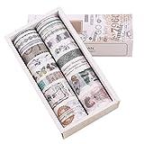 Lychii 20 Rollen Washi Tape Set, Dekoratives Klebeband, Kollektion für Bastler, verschönert Journals, Planer, Karten und Scrapbooking (Set 1)