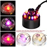 #1: Happie Shop 12 LED Colourful Magic Mist Maker Fog Machine Atomizer Air Humidifier Ultrasonic for Decorating Water Fountain, Pond Fish Tank, Rockery etc.