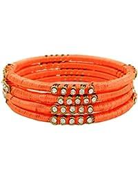 98e86181568d Banithani hilo de seda dorado envuelta pulsera del brazalete del regalo de  la joyería de la manera determinada por su 2…