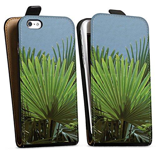 Apple iPhone X Silikon Hülle Case Schutzhülle Palme Blatt Palmenwedel Downflip Tasche schwarz