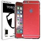 Metal pulido Full Body Skin adhesivo Vinilo de aluminio para para iPhone, polvo–resistente al agua–oilproof y huellas evitar, rojo, for iPhone 6/6S