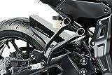 Yamaha MT07 TRACER 2017 - Kit Kotflügel - Aluminium Heckfender Rear Mudguard Fender - Einfache Installation - Mattschwarz - Motorradzubehör De Pretto Moto (DPM) - 100% Made in Italy