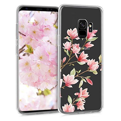kwmobile Samsung Galaxy S9 Hülle - Handyhülle für Samsung Galaxy S9 - Handy Case in Rosa Weiß Transparent