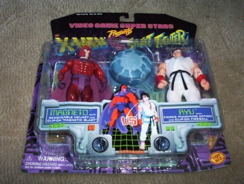 Video Game Super Stars Presents X-Men VS. Street Fighter Capcom, Magneto Vs. Ryu by Toy Biz