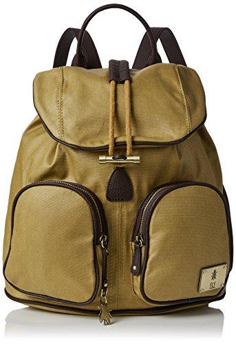 Fly London Deia613fly, Sacs portés dos femme, Yellow (Mustard/dk.brown), 6x40x31 cm (W x H L)