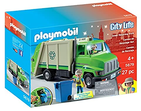 Playmobil Camion Benne - PLAYMOBIL 5679 Camion De Recyclage