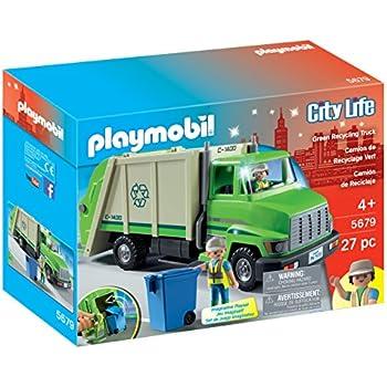 Playmobil 4418 camion recyclage ordures - Playmobil camion chantier ...