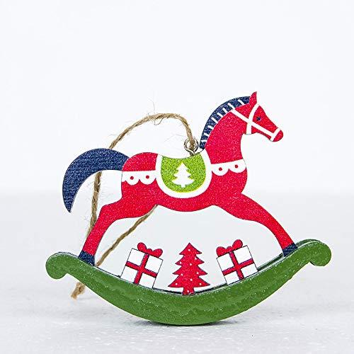 juler 10 stücke Saisonale Dekor Weihnachten Neuheit Dekoration Kreative Weihnachten Trojan Anhänger Holz Gemalt Handwerk Weihnachtsbaum - Trojan Kostüm