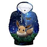 CTOOO 2018 Pokemon GO 3D Druck Damen Herren Kapuzenpullover Hoodies Sweatshirt Paare Pullover Schwarz Loose Fit XXS-XXXXL