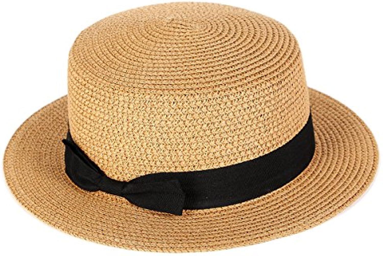 La Signora Cappello di Paglia di Estate Cappello della Spiaggia Spiaggia  della Crema Solare Cappello da 1ca35bcb0345