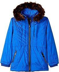 Fort Collins Girls Regular Fit Jacket (10210_Royal Blue_28 (8 - 9 years))