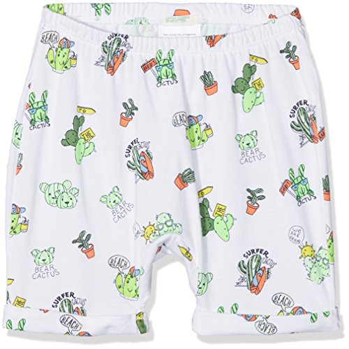United Colors of Benetton Baby-Jungen Shorts, Mehrfarbig (White Shorts with Small Cactus All Over Print 76h), 62