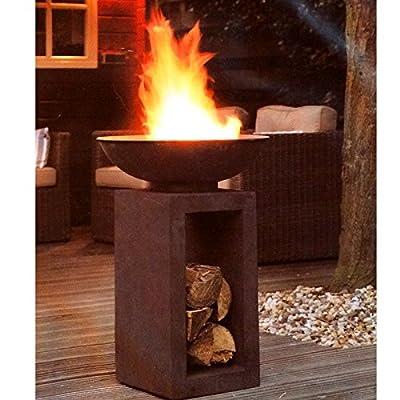 HOT Moderne Feuerschale Feuerkorb Feuerstelle aus Gussstein Ø 39,5cm H68,5 von Riyashop - Heizstrahler Onlineshop